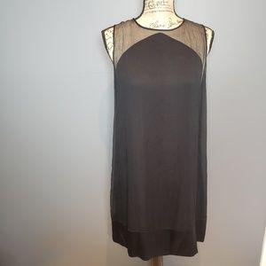 Rebecca taylor silk sheer 2 layer sleeves dress 10